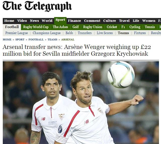 "Screen ze strony ""Daily Telegraph"". Źródło: http://www.telegraph.co.uk/ /INTERIA.PL"