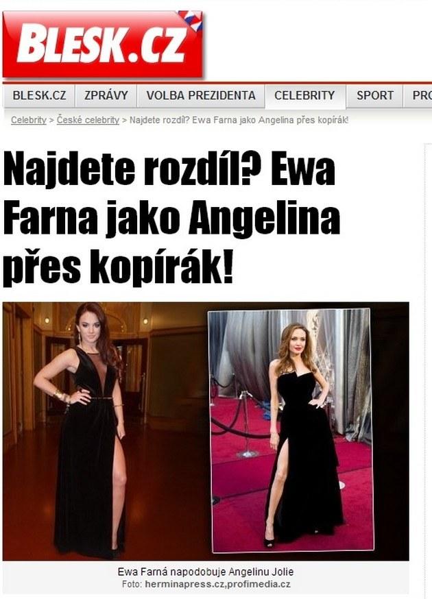 "screen ze strony interentowej ""Blesk"". /- /pomponik.pl"