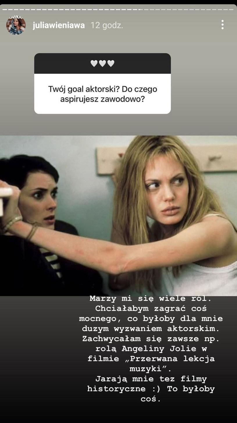 Screenshot z Instagrama @juliawieniawa /Instagram /Instagram
