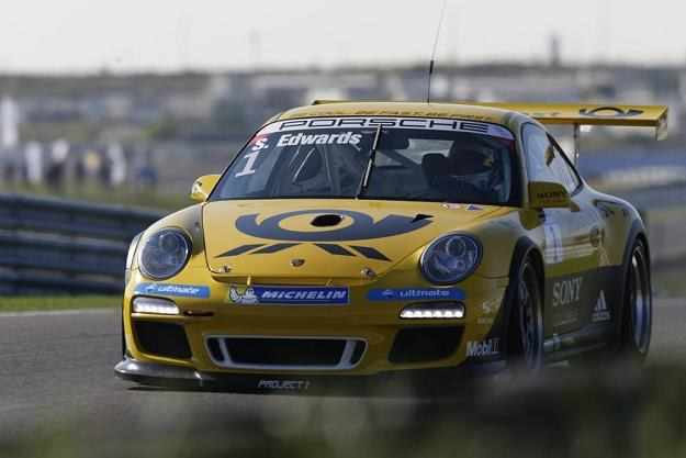Sean Edwards podczas wyścigu Porsche Cup /