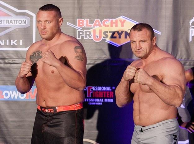 Sean McCorkle i Mariusz Pudzianowski /Agencja FORUM