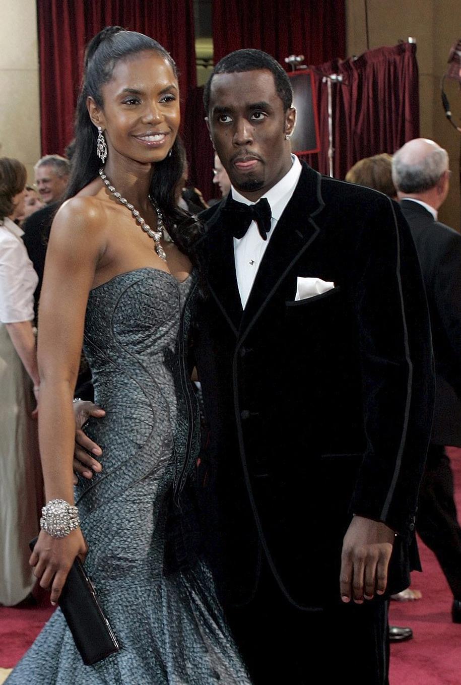 "Sean ""P. Diddy"" Combs i Kim Porter na zdjęciu z 2005 roku /DANNY MOLOSHOK  /PAP/EPA"