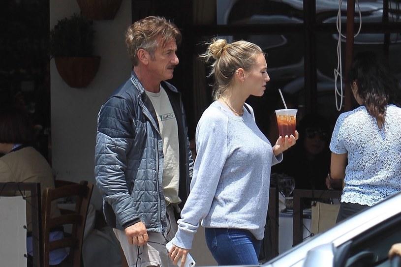 Sean Penn i Leila George /Agencja FORUM