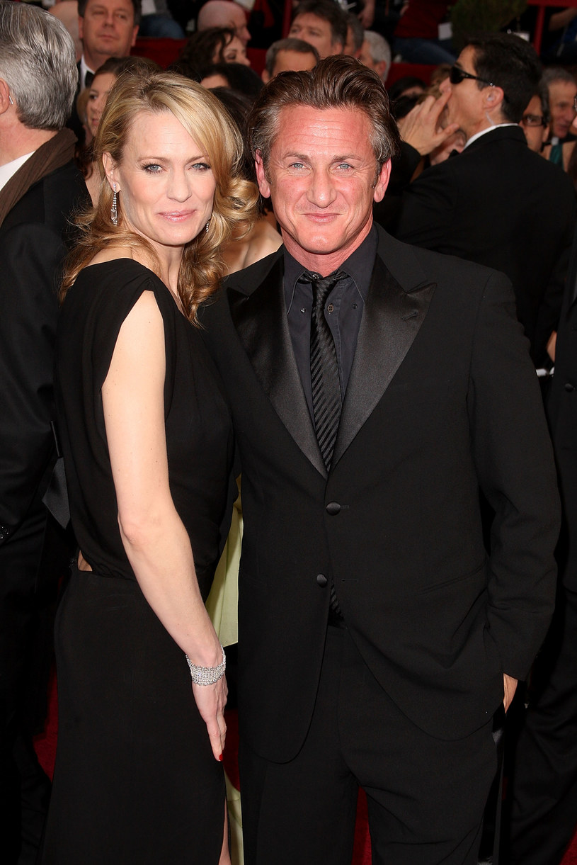 Sean Penn z byłą żoną, Robin Right /Jason Merritt /Getty Images