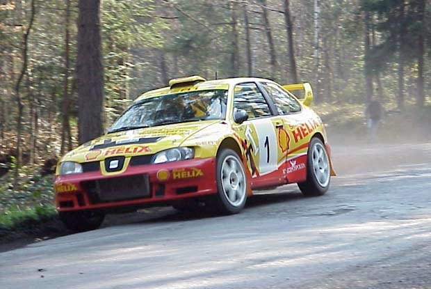 Seat Cordoba WRC na testowym odcinku Muchówka-Rajbrot /INTERIA.PL
