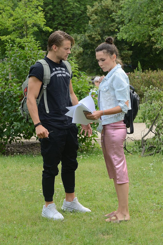 Sebastian Fabijański i Olga Bołądź, 2017 rok /Jarosław Antoniak /MWMedia