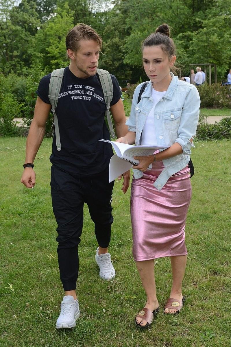 Sebastian Fabijański i Olga Bołądź /Jarosław Antoniak /MWMedia