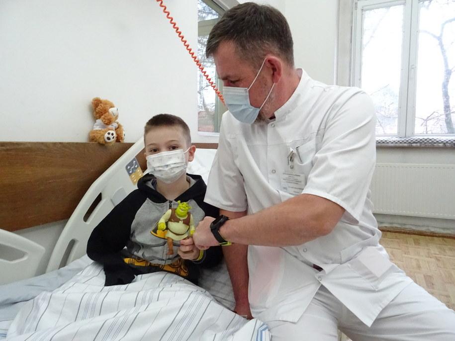Sebastian i dr Andrzej Baryluk /Szpital Miejski nr 4 w Gliwicach /