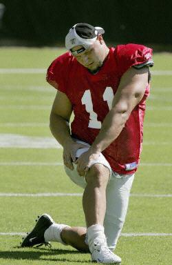 Sebastian Janikowski przez lata pracował na rekord. Na zdjęciu podczas treningu w 2004 r. /AFP