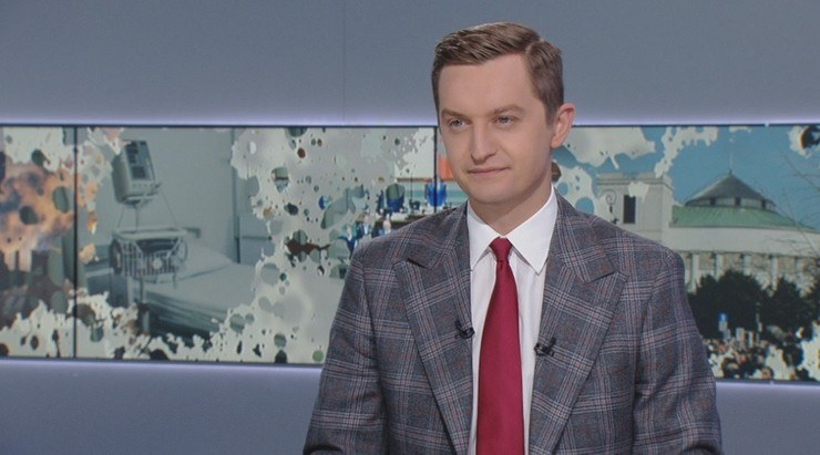 Sebastian Kaleta w studiu Polsat News /Polsat News