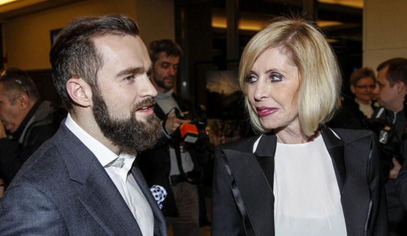 Sebastian Kulczyk z mamą /AKPA