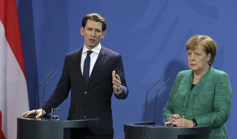 Sebastian Kurz i Angela Merkel /Associated Press /East News
