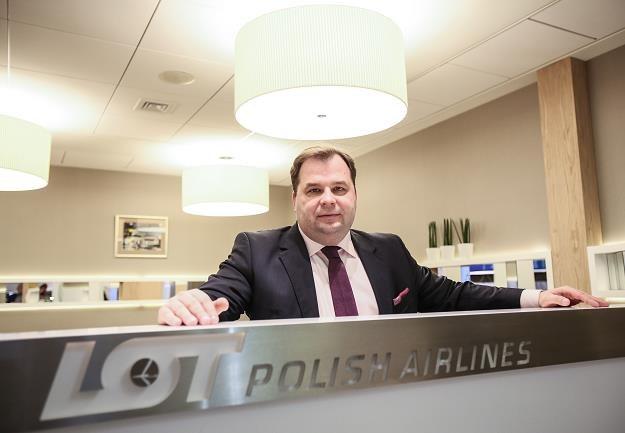 Sebastian Mikosz, prezes PLL LOT SA /PAP
