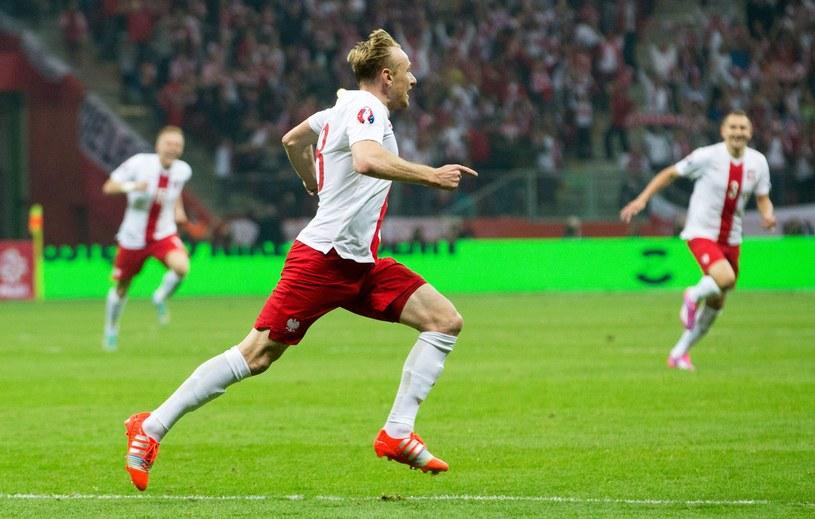 Sebastian Mila strzelił gola w meczu z Niemcami /AFP
