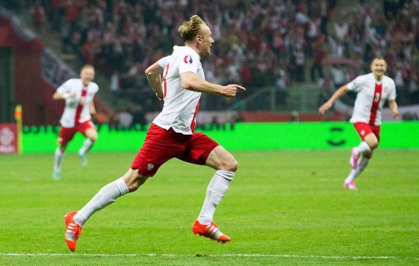 Sebastian Mila szaleje ze szczęścia po golu z Niemcami /AFP