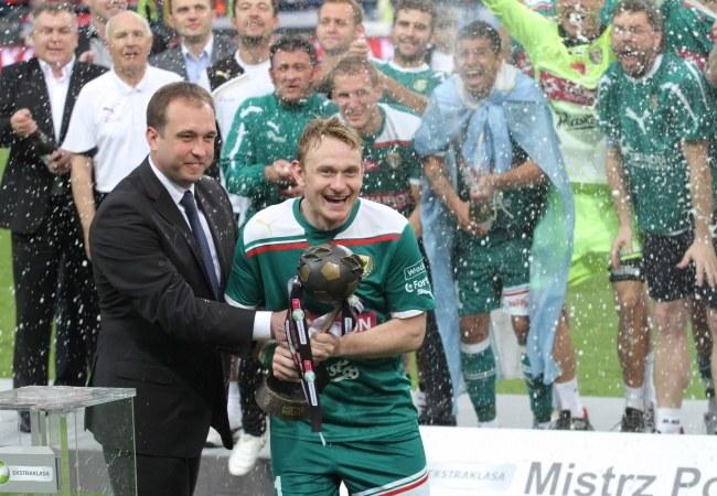 Sebastian Mila został mistrzem Polski ze Śląskiem Wrocław /- /PAP