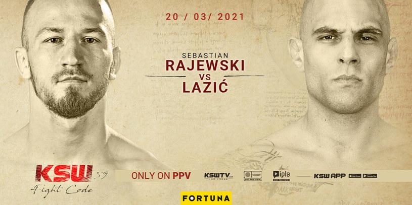 Sebastian Rajewski zmierzy się z Savo Laziciem na KSW 59 /KSW /Informacja prasowa