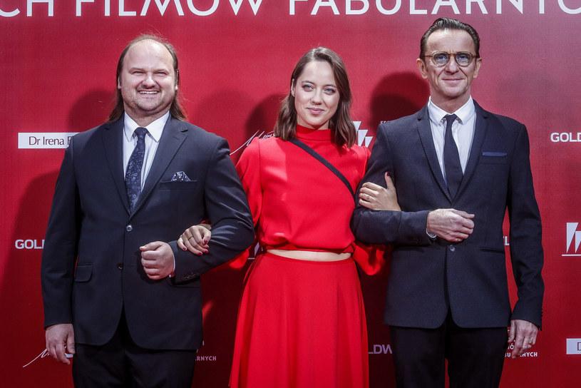 Sebastian Stankiewicz, Maria Sobocińska i Paweł Wilczak /KAROLINA MISZTAL/REPORTER /East News