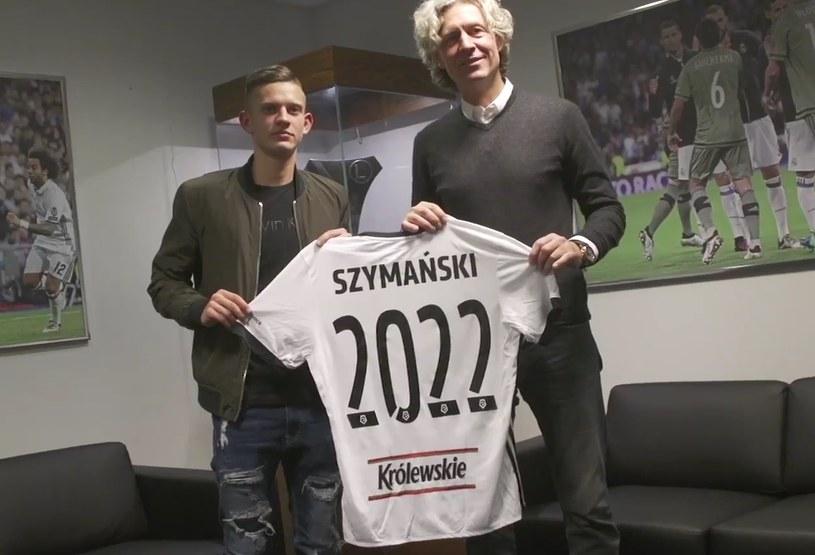 Sebastian Szymański i Dariusz Mioduski, prezes Legii /Internet
