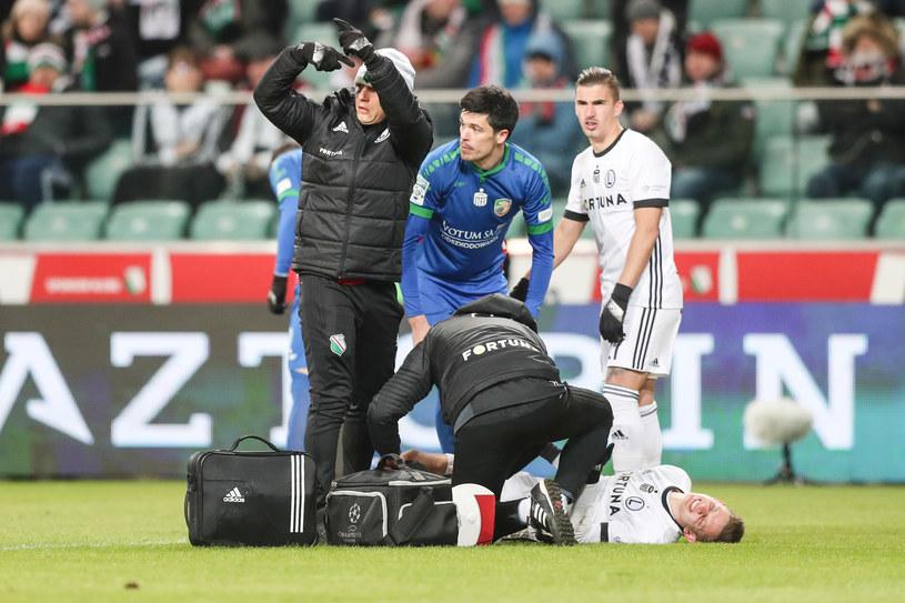 Sebastian Szymański nabawił się kontuzji w meczu z Miedzią Legnica /Łukasz Grochala /Newspix