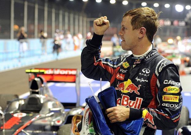 Sebastian Vettel może w niedzielę świętować obronę tytułu mistrza świata /AFP