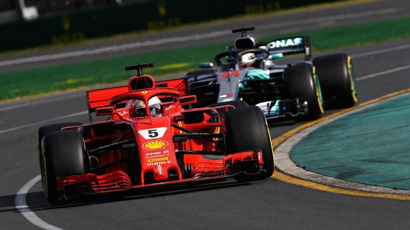 Sebastian Vettel na prowadzeniu /Getty Images