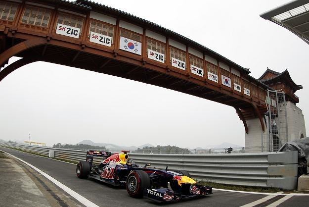 Sebastian Vettel na torze w koreańskim Yeongam /AFP