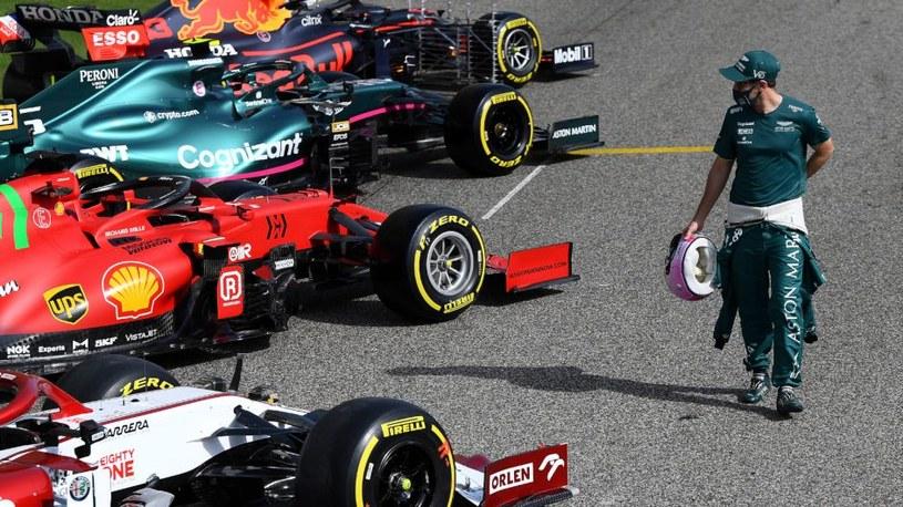 Sebastian Vettel (po prawej) /Getty Images /Getty Images