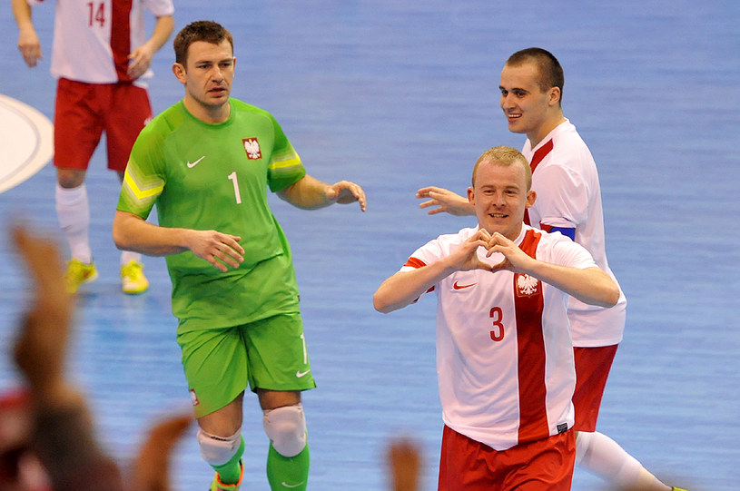 Sebastian Wojciechowski (numer 3) strzelił jednego z goli dla Polski /Joanna Żmijewska /INTERIA.PL