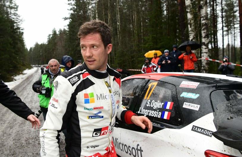 Sebastien Ogier podczas Rajdu Szwecji, który odbył się w lutym /AFP