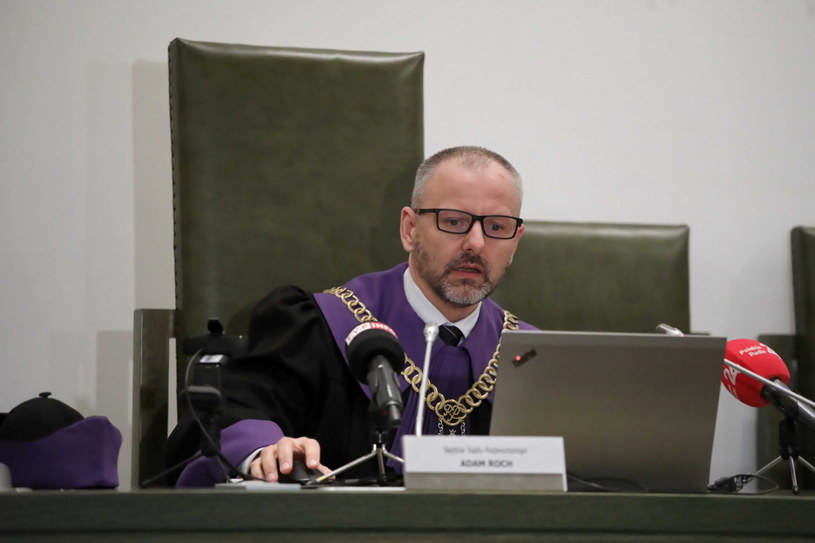 Sędzia Adam Roch na sali Sądu Najwyższego / Tomasz Gzell    /PAP