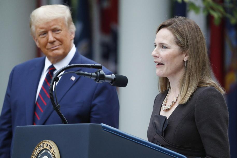Sędzia Amy Coney Barrett została w sobotę wskazana przez prezydenta USA Donalda Trumpa na kandydatkę do Sądu Najwyższego /SHAWN THEW    /PAP/EPA