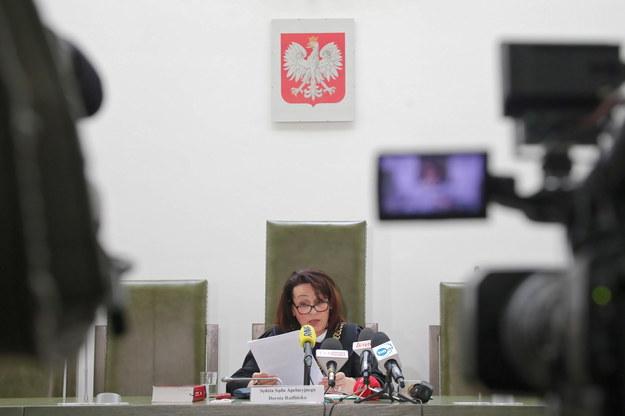 Sędzia Dorota Radlińska na sali Sądu Apelacyjnego w Warszawie /Wojciech Olkuśnik /PAP