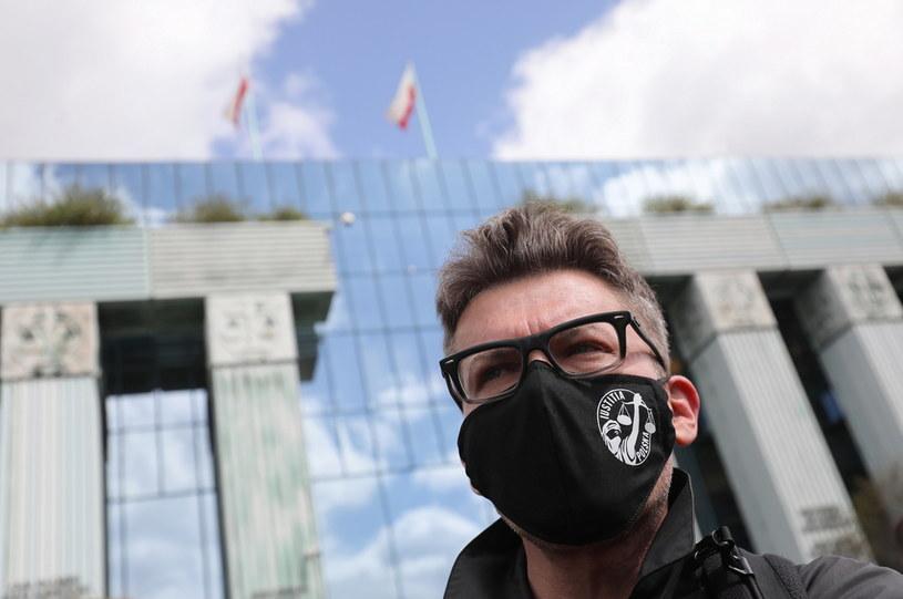 Sędzia Igor Tuleya przed siedzibą Sądu Najwyższego /Paweł Supernak /PAP