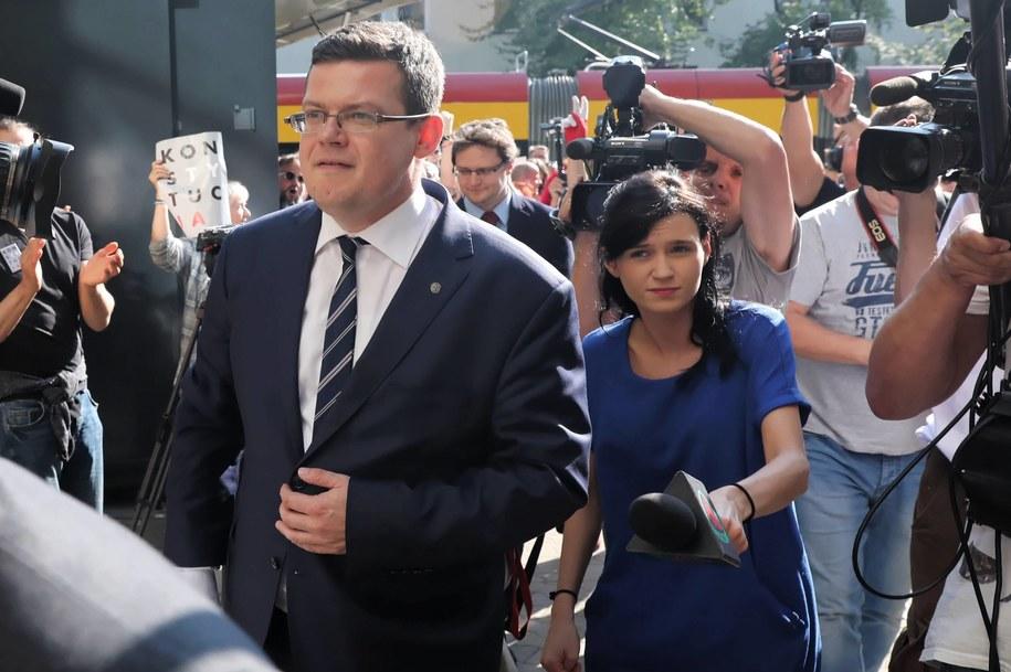 Sędzia Krystian Markiewicz nie zostawia suchej nitki na pytaniach sędziego SN / Tomasz Gzell    /PAP