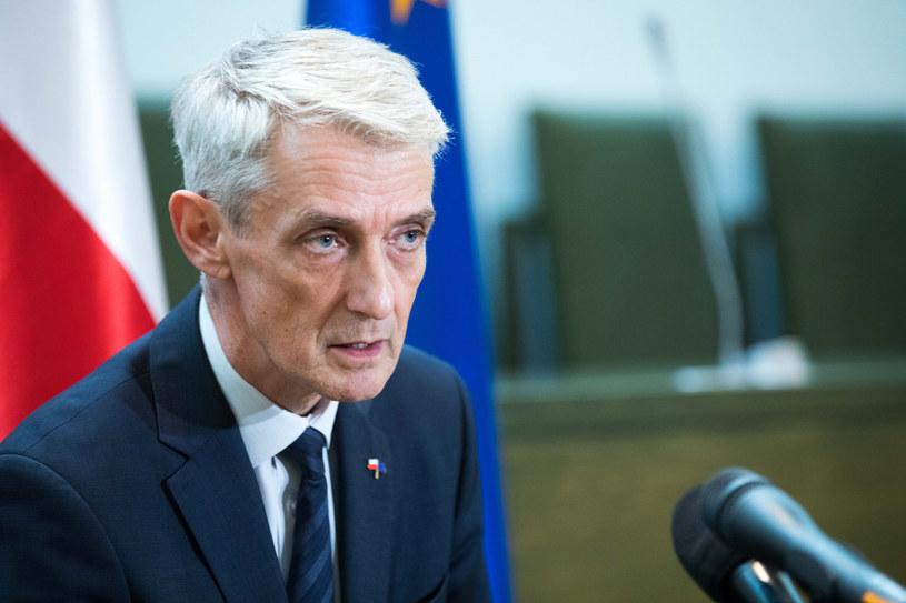 Sędzia Michał Laskowski /fot. Andrzej Iwanczuk /Reporter