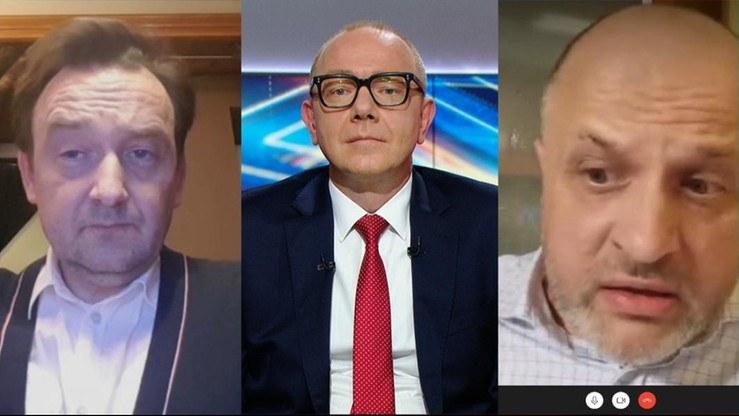 """Sędzia Mitera i sędzia Gąciarek w """"Debacie Dnia"""" /Polsat News"""