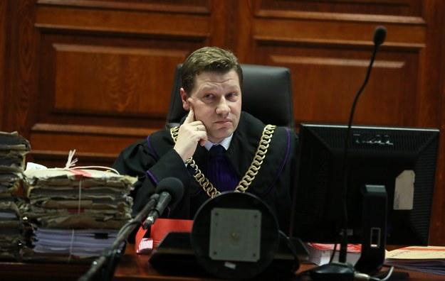 Sędzia Piotr Schab na sali rozpraw Sądu Okręgowego w Warszawie (marzec 2016) / Tomasz Gzell    /PAP
