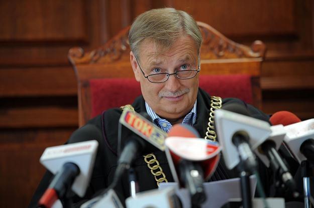Sędzia podczas ogłaszania wyroku /PAP