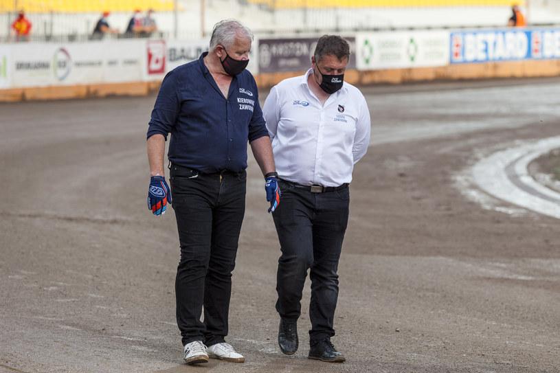 Sędzia Remigiusz Substyk (z prawej) /Wojciech Tarchalski /Newspix
