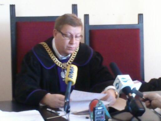 Sędzia Ryszard Milewski po powrocie do pracy /Kuba Kaługa /RMF FM