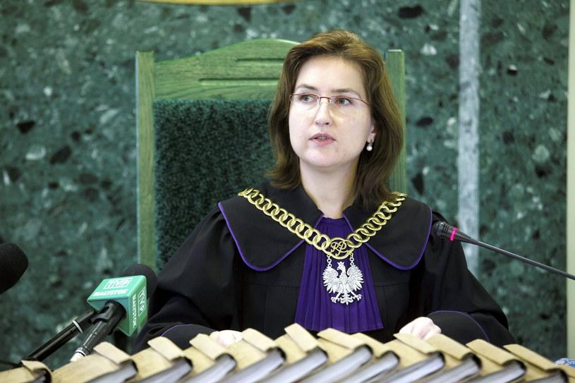 Sędzia Sądu Rejonowego Małgorzata Sawicka na sali rozpraw /Artur Reszko /PAP