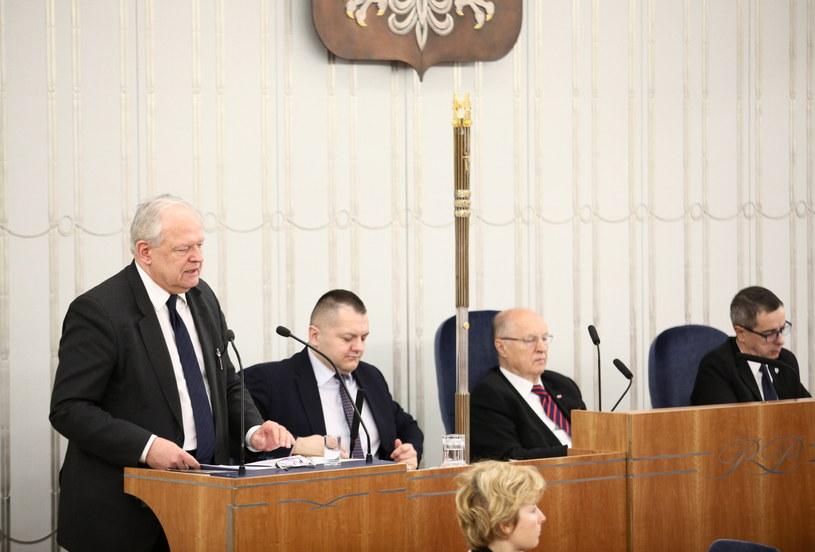 Sędzia Stanisław Zabłocki w Senacie /Leszek Szymański /PAP