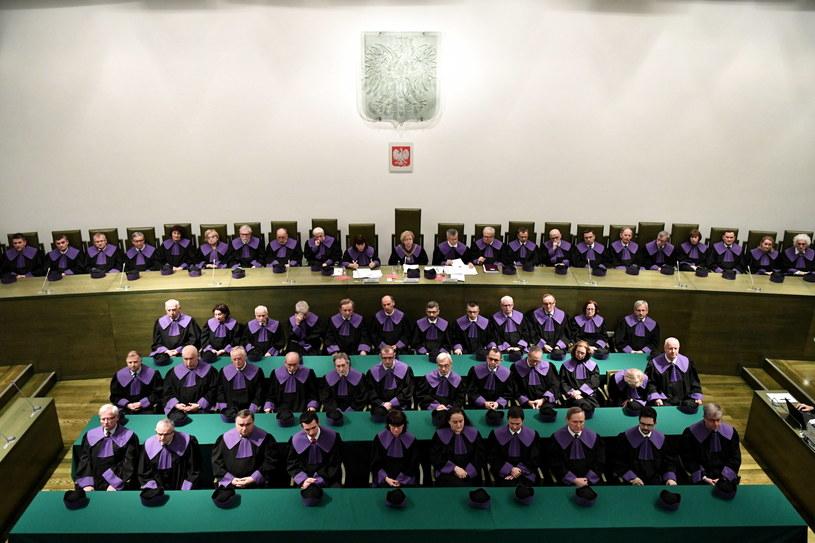 Sędziowie SN podczas konferencji po wspólnym posiedzeniu trzech izb Sądu Najwyższego /Piotr Nowak /PAP
