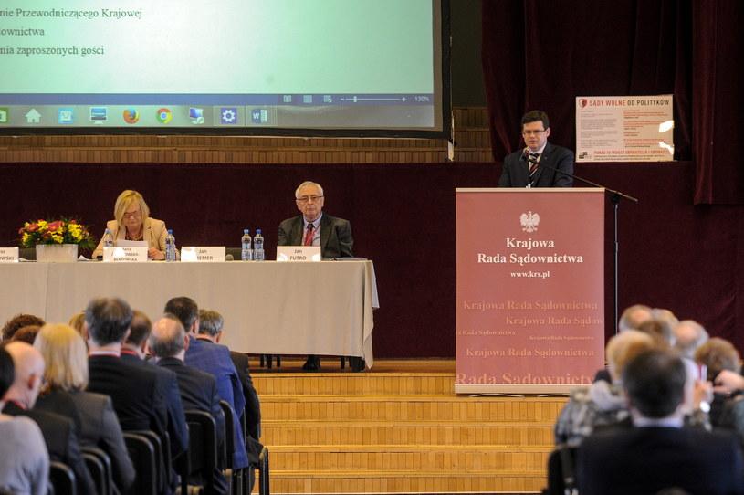 Sędziowie z całego kraju debatowali o rządowych planach zmian przepisów o Krajowej Radzie Sądownictwa /Marcin Obara /PAP