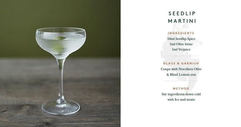 Seedlip Martini - jeden z przepisów sugerowanych przez producenta /materiały prasowe