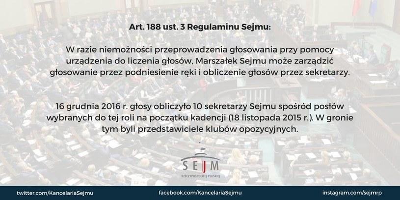 Sejm Rzeczypospolitej Polskiej na facebooku /