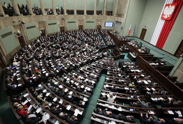 Sejm w czasie dzisiejszego glosowania /PAP