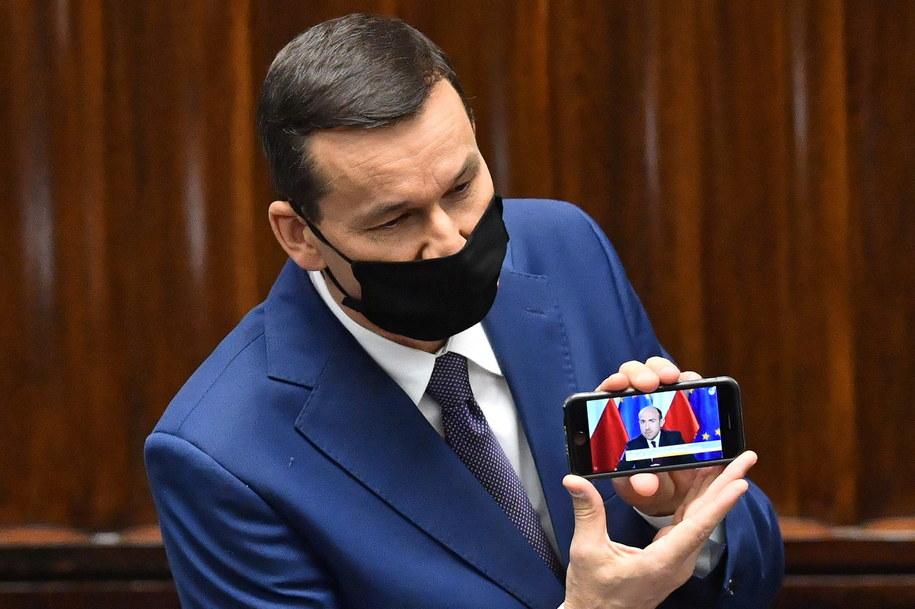 Sejm zakończył pierwsze czytanie projektów poselskich dotyczących walki z epidemią COVID-19 / Radek Pietruszka   /PAP