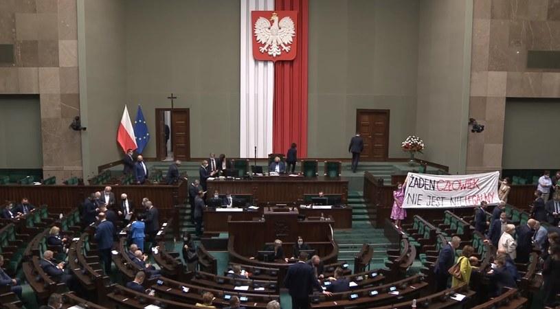 Sejm zdecydował o przedłużeniu stanu wyjątkowego na granicy z Białorusią /Sejm /